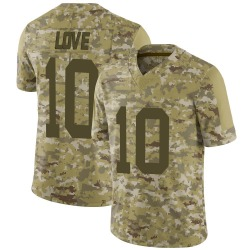 Jordan Love Green Bay Packers Men's Limited 2018 Salute to Service Nike Jersey - Camo