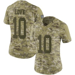 Jordan Love Green Bay Packers Women's Limited 2018 Salute to Service Nike Jersey - Camo