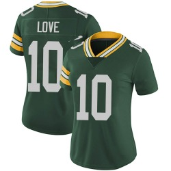 Jordan Love Green Bay Packers Women's Limited Team Color Vapor Untouchable Nike Jersey - Green