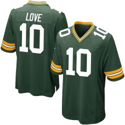 Jordan Love Green Bay Packers Youth Game Team Color Nike Jersey - Green