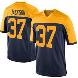 Josh Jackson Green Bay Packers Men's Game Alternate Nike Jersey - Navy