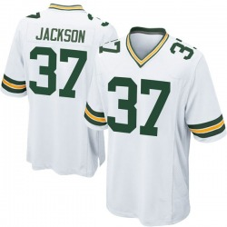 Josh Jackson Green Bay Packers Men's Game Nike Jersey - White