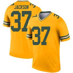Josh Jackson Green Bay Packers Men's Legend Inverted Nike Jersey - Gold