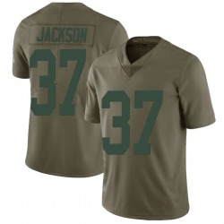 Josh Jackson Green Bay Packers Men's Limited Salute to Service Nike Jersey - Green
