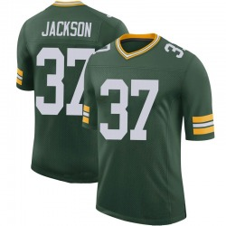 Josh Jackson Green Bay Packers Youth Limited 100th Vapor Nike Jersey - Green