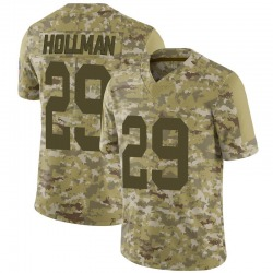 Ka'dar Hollman Green Bay Packers Youth Limited 2018 Salute to Service Nike Jersey - Camo