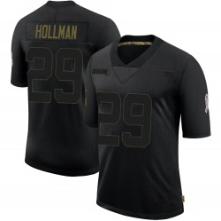 Ka'dar Hollman Green Bay Packers Youth Limited 2020 Salute To Service Nike Jersey - Black
