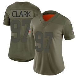 Kenny Clark Green Bay Packers Women's Limited 2019 Salute to Service...