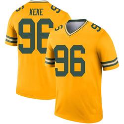 Kingsley Keke Green Bay Packers Youth Legend Inverted Nike Jersey - Gold