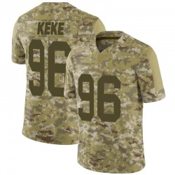 Kingsley Keke Green Bay Packers Youth Limited 2018 Salute to Service Jersey - Camo