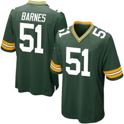 Krys Barnes Green Bay Packers Men's Game Team Color Nike Jersey - Green
