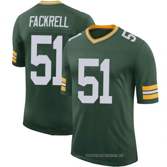 Kyler Fackrell Green Bay Packers Men's Limited 100th Vapor Nike Jersey - Green