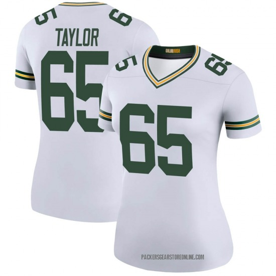 Lane Taylor Green Bay Packers Women's Color Rush Legend Nike Jersey - White