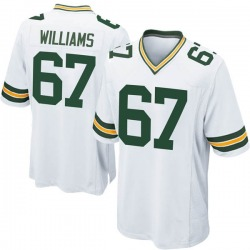 Larry Williams Green Bay Packers Men's Game Nike Jersey - White