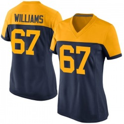 Larry Williams Green Bay Packers Women's Game Alternate Nike Jersey - Navy