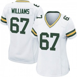 Larry Williams Green Bay Packers Women's Game Nike Jersey - White