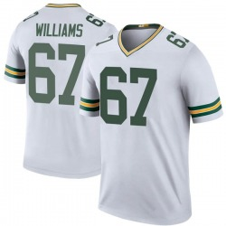 Larry Williams Green Bay Packers Youth Color Rush Legend Nike Jersey - White