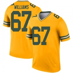 Larry Williams Green Bay Packers Youth Legend Inverted Nike Jersey - Gold
