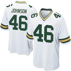 Malcolm Johnson Green Bay Packers Men's Game Nike Jersey - White