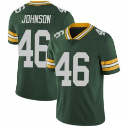 Malcolm Johnson Green Bay Packers Men's Limited Team Color Vapor Untouchable Nike Jersey - Green