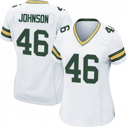 Malcolm Johnson Green Bay Packers Women's Game Nike Jersey - White
