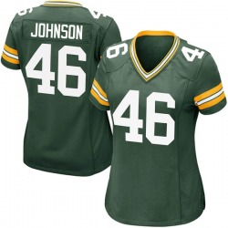 Malcolm Johnson Green Bay Packers Women's Game Team Color Nike Jersey - Green