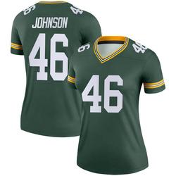 Malcolm Johnson Green Bay Packers Women's Legend Nike Jersey - Green