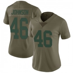 Malcolm Johnson Green Bay Packers Women's Limited Salute to Service Nike Jersey - Green