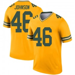 Malcolm Johnson Green Bay Packers Youth Legend Inverted Nike Jersey - Gold