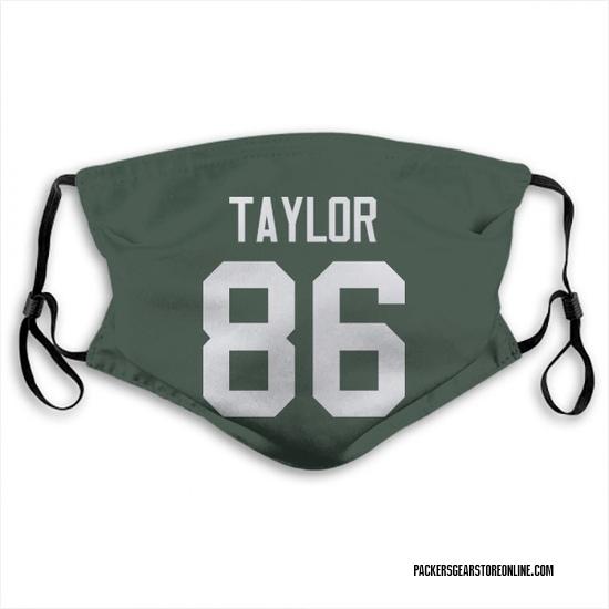 Malik Taylor Green Bay Packers Reusable & Washable Face Mask
