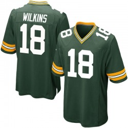 Manny Wilkins Green Bay Packers Men's Game Team Color Nike Jersey - Green