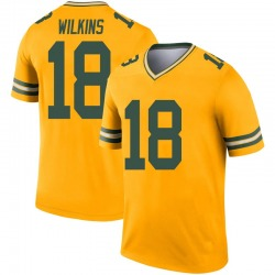 Manny Wilkins Green Bay Packers Men's Legend Inverted Nike Jersey - Gold