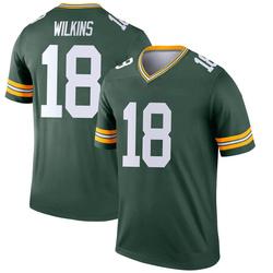 Manny Wilkins Green Bay Packers Men's Legend Nike Jersey - Green