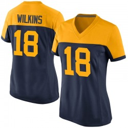 Manny Wilkins Green Bay Packers Women's Game Alternate Nike Jersey - Navy