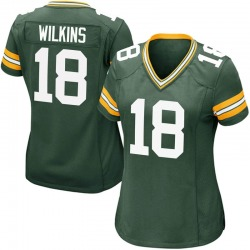 Manny Wilkins Green Bay Packers Women's Game Team Color Nike Jersey - Green
