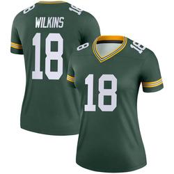 Manny Wilkins Green Bay Packers Women's Legend Nike Jersey - Green