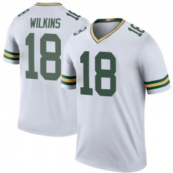 Manny Wilkins Green Bay Packers Youth Color Rush Legend Nike Jersey - White