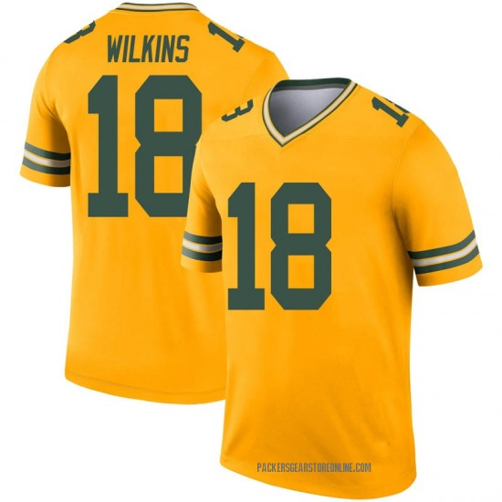 Manny Wilkins Green Bay Packers Youth Legend Inverted Nike Jersey - Gold