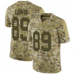 Marcedes Lewis Green Bay Packers Men's Limited 2018 Salute to Service Nike Jersey - Camo