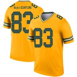 Marquez Valdes-Scantling Green Bay Packers Men's Legend Inverted Nike Jersey - Gold