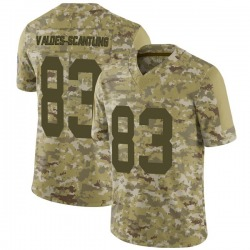 Marquez Valdes-Scantling Green Bay Packers Men's Limited 2018 Salute to Service Nike Jersey - Camo