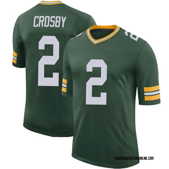 Mason Crosby Green Bay Packers Men's Limited 100th Vapor Jersey - Green