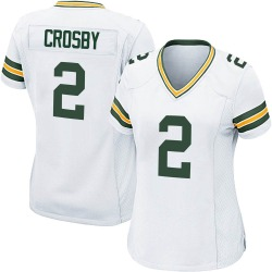 Mason Crosby Green Bay Packers Women's Game Nike Jersey - White
