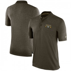 Men's Green Bay Packers Olive Salute to Service Sideline Polo