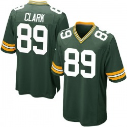 Michael Clark Green Bay Packers Men's Game Team Color Nike Jersey - Green