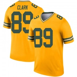 Michael Clark Green Bay Packers Men's Legend Inverted Nike Jersey - Gold