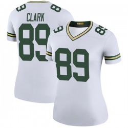 Michael Clark Green Bay Packers Women's Color Rush Legend Nike Jersey - White