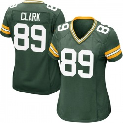 Michael Clark Green Bay Packers Women's Game Team Color Nike Jersey - Green
