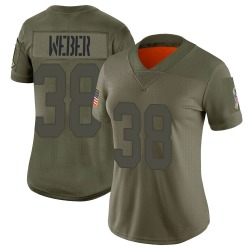 Mike Weber Green Bay Packers Women's Limited 2019 Salute to Service Nike Jersey - Camo
