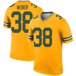 Mike Weber Green Bay Packers Youth Legend Inverted Nike Jersey - Gold